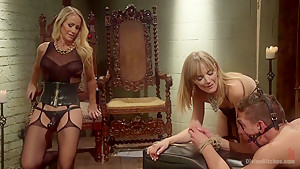 Stepmother And Daughter Dominating Duo
