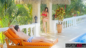 Alexa Tomas took his dick balls deep in her sexy Spanish ass