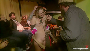 Girl Next Store Shocked and Bound in Public, Ass Fucked, Humiliated