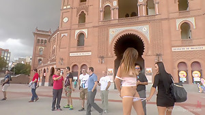 Saucy Spanish Slut Dragged Around the Streets of Madrid