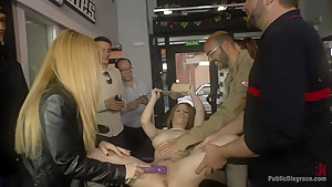 Church Whore Gets Fucked in the Ass and Covered in Trash!!!