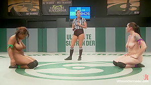 Unbelievable Welter Weight Match Mistress Kara v. Yasmine Loven