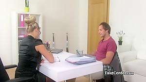 Hot casting agent fucks her client