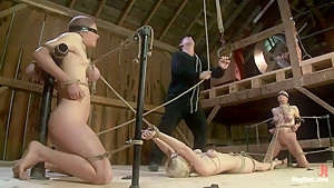 Something you have never seen before!An Amazing 3 girl scene with brutal bondage and orgasms!