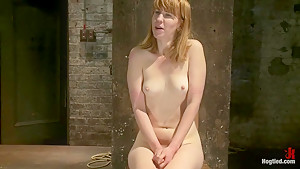 Tall sexy red head with huge nipples, made to cum, whipped, and cropped! Heavy pain & pleasure!