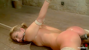 Blonde fuck slut squeals and begs to cum.
