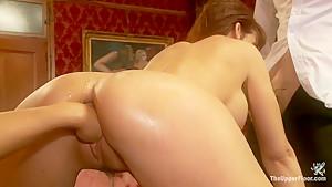 MILF Ass Slut Syren de Mer is Under the House Slave's Thumb