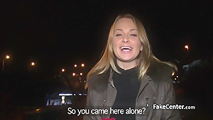 Babe fucks in public for valentines