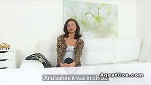Petite hairy pussy model bangs in casting
