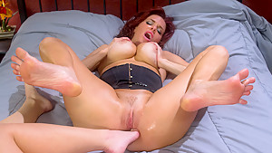 Crazy fetish, lesbian adult scene with exotic pornstars Serena Blair and Veronica Avluv from Footworship