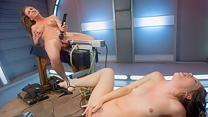 Fabulous fetish xxx movie with hottest pornstars Kristina Rose and Ariel X from Fuckingmachines