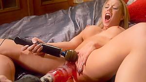 Fabulous blonde, fetish adult video with amazing pornstar Shawna Lenee from Fuckingmachines