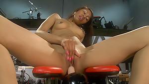 Horny fetish, ebony porn video with exotic pornstar Yasmine de Leon from Fuckingmachines