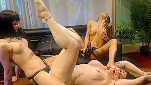 Fabulous lesbian, milf sex movie with incredible pornstars Asphyxia Noir and Gia DiMarco from Whippedass