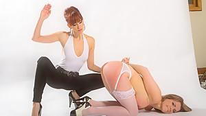 Crazy bdsm, lesbian porn movie with best pornstars Maitresse Madeline Marlowe and Courtney Cummz from Whippedass