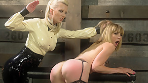 Crazy anal, fetish sex video with hottest pornstars Cherry Torn and Mona Wales from Whippedass