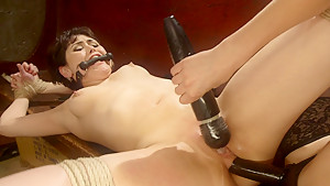 Best anal, fetish adult scene with hottest pornstars Audrey Noir and Mona Wales from Whippedass