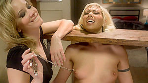 Amazing fetish, bdsm xxx video with incredible pornstars Satine Phoenix and Maitresse Madeline Marlowe from Whippedass