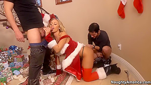 Gorgeous gift for a Christmas for super blonde Nicole Aniston