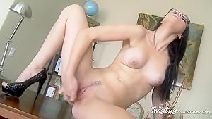 Exotic pornstar in Incredible Brunette, Solo Girl porn clip