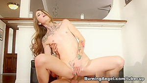 Crazy pornstar Adriana Angel in Amazing Redhead sex movie