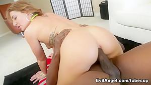 Incredible pornstar Lexington Steele in Crazy Redhead, Interracial porn movie