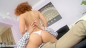 Hot ass redhead Netu enjoys in passionate sex