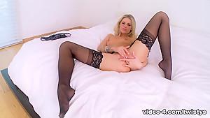 Incredible pornstar Jessa Rhodes in Fabulous Blonde, Masturbation sex clip