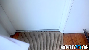 PropertySex Ebony Tenant Kendall Woods Fucks Big Landlord Cock