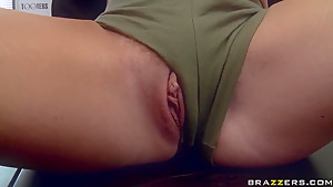 Job interview with big boobed blonde Krissy Lynn