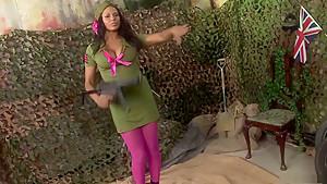 Horny pornstars India Babe and Antonia Deona in crazy lingerie, threesome xxx clip