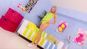 Fabulous pornstar Mia La Roche in exotic facial, blonde sex clip