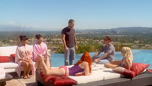 Fabulous pornstar Adrianna Luna in incredible group sex, redhead adult scene