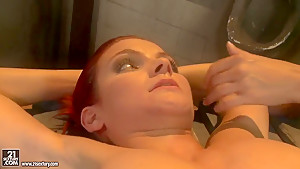 Crazy BDSM video with two adorable curves Lucy and Mandy Bright