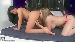 Bettina DiCapri and Donna Bell get wet