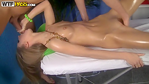 Amazing model Megan enjoys this sweet massage