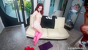 Lily Sincere in Amateur Redhead With A Huge Ass Fucked...