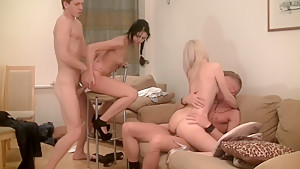 Elizabeth & Kamila & Marya & Sabina Gruda & Tanata in real college fucking video with group shagging