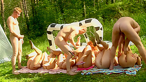 Dominica Phoenix & Eva Berger & Nika Star & Mancy & Rita Rush & Sabrina M  in hot college sex video made in the outdoors