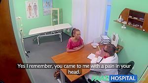 FakeHospital Hot Brunette Patient returns craving cock