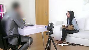 Shaved cunt amateur banged office masturbation