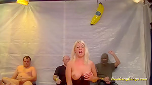 gangbang orgy with busty german