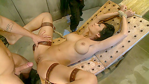 Tied, fucked and received 2 facial cumshots
