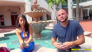 Latina hotel worker Nina Lopez and Jmac in the action