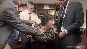 Jailhouse Cock Slut: Judge Mia Li Double Stuffed!