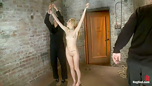 March's live show: Part 1 of 3Tiny Emma is bound spread and 'warmed' up for what is to cum.