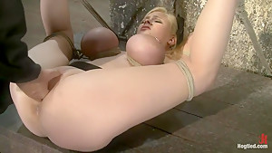 Huge bound breasts and plenty of squirting.