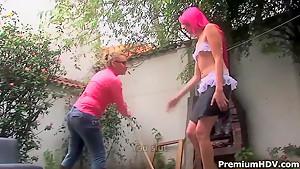 Teen Alejandra gets caught masturbating by Cedela