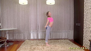 cute teen stretch her flexi body