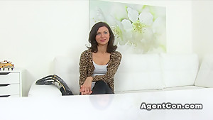 Fake agent bangs slim hairy model